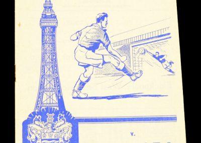 Blackpool v Chelsea 02.11.1957