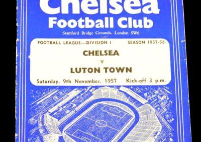 Luton Town v Chelsea 09.11.1957