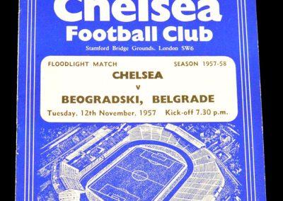 Beogradski, Belgrade v Chelsea 12.11.1957