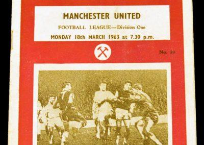 West Ham United v Manchester United 18.03.1963