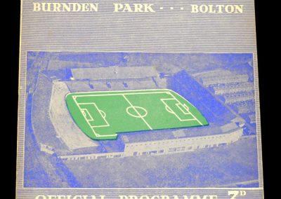 Bolton Wanderers v Chelsea 30.11.1957