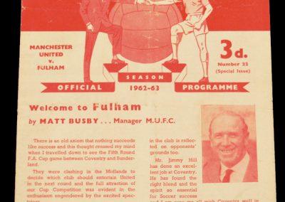 Fulham v Manchester United 01.04.1963