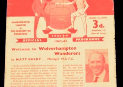 Wolverhampton Wanderers v Manchester United 22.04.1963