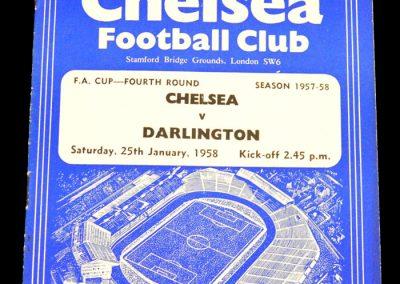 Darlington v Chelsea 25.01.1958 | FA Cup 4th Round