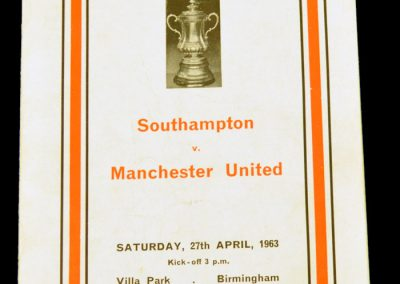 Southampton v Manchester United 27.04.1963 | FA Cup Semi Final