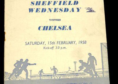 Sheffield Wednesday v Chelsea 15.02.1958