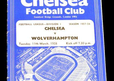 Wolverhampton v Chelsea 11.03.1958