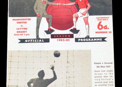 Leyton Orient v Manchester United 18.05.1963