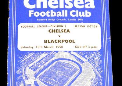 Blackpool v Chelsea 15.03.1958
