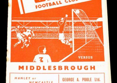 Stoke City v Middlesbrough 01.01.1955