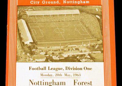 Nottingham Forest v Manchester United 20.05.1963