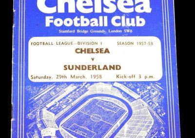 Sunderland v Chelsea 29.03.1958