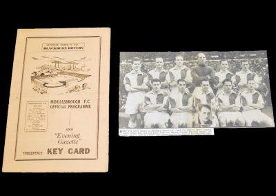 Middlesbrough v Blackburn Rovers 26.03.1955