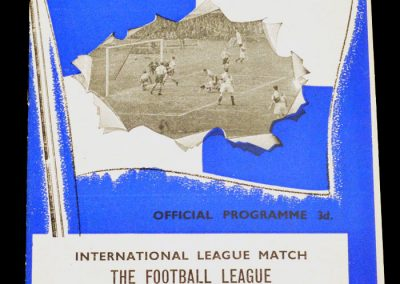 English League v Irish League 11.10.1961