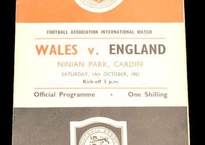 Wales v England 14.10.1961