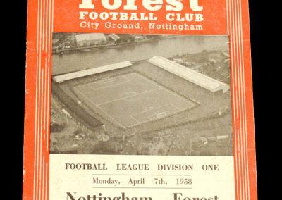 Nottingham Forest v Chelsea 07.04.1958