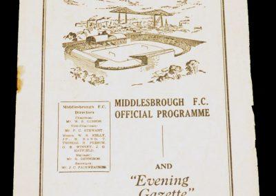 Middlesbrough FC v Port Vale 09.04.1955