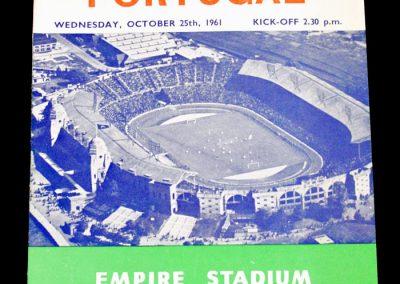 England v Portugal 25.10.1961