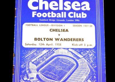 Bolton Wanderers v Chelsea 12.04.1958