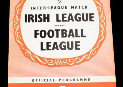 Irish League v English League 01.11.1961