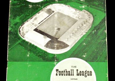English League v Italian League 08.11.1961