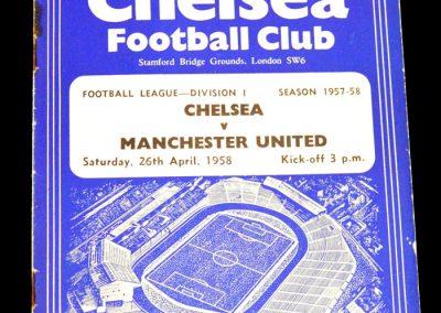 Manchester United v Chelsea 26.04.1958