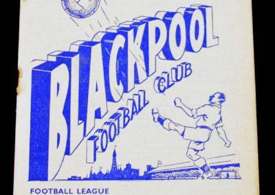 Blackpool v Manchester United 28.08.1954
