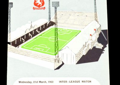 English League v Scottish League 21.03.1962