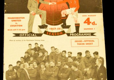 Manchester United v Everton 28.08.1957
