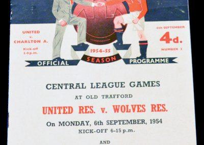 Charlton Athletic v Manchester United 04.09.1954