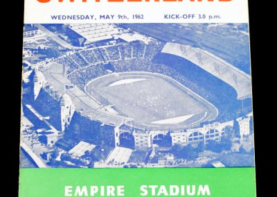 England v Switzerland 09.05.1962