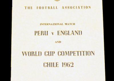 Peru v England 20.05.1962