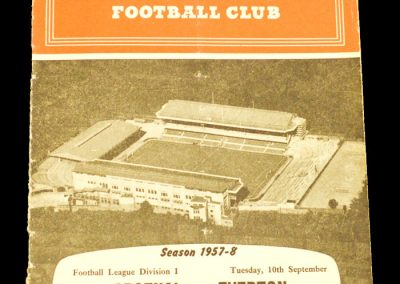 Arsenal v Everton 10.09.1957