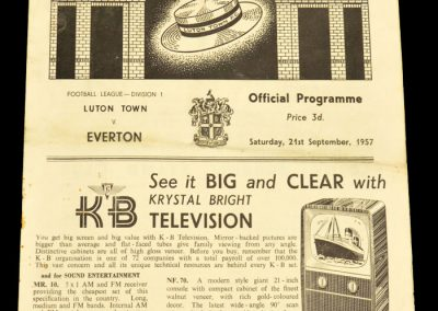 Luton Town v Everton 21.09.1957
