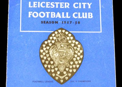 Leicester City v Everton 05.10.1957
