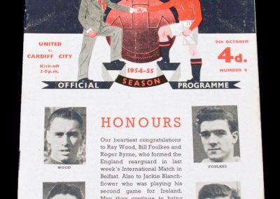 Cardiff City v Manchester United 09.10.1954