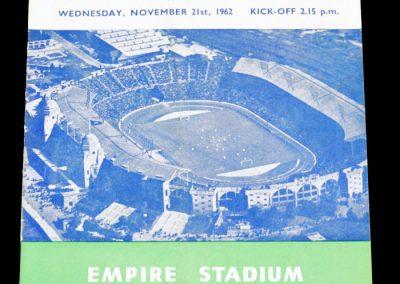 England v Wales 21.11.1962