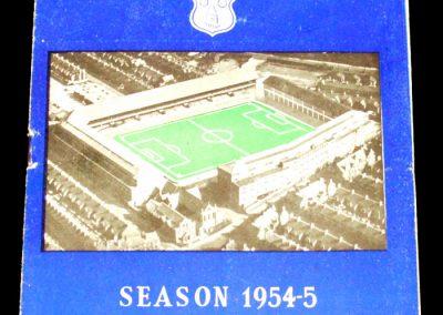Everton FC v Manchester United 30.10.1954