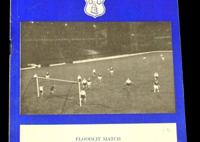 Red Star (Yugoslavia) v Everton 23.10.1957