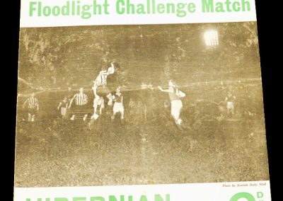 Hibernian v Manchester United 15.11.1954