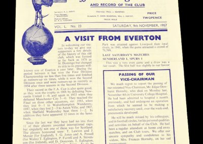 Tottenham Hotspur v Everton 09.11.1957