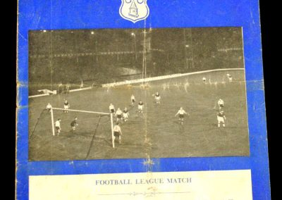 Blackpool v Everton 20.11.1957