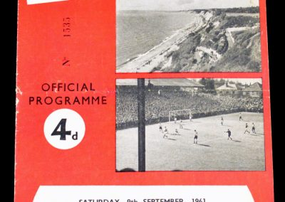 Bourneymouth & Boscombe v Halifax Town 09.09.1961