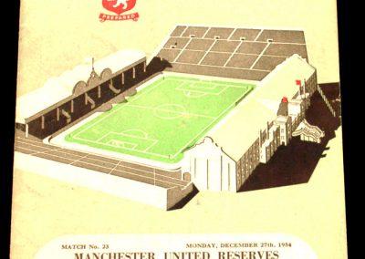 Aston Villa v Manchester United 28.12.1954