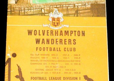 Wolverhampton Wanderers v Everton 21.12.1957