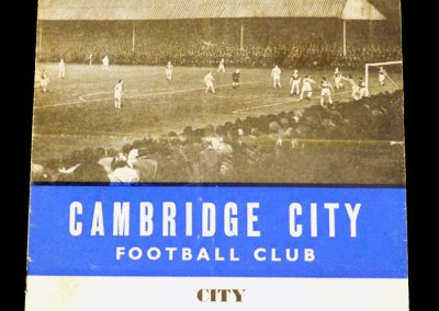 Cambridge City v Folkstone Town 30.09.1961