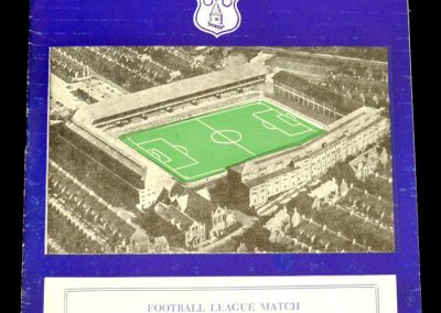 Aston Villa v Everton 25.12.1957