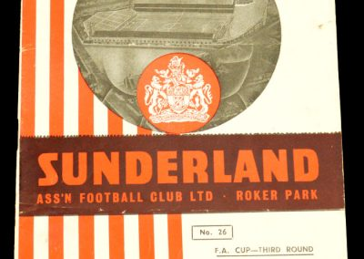 Sunderland v Everton 04.01.1958 | FA Cup 3rd Round