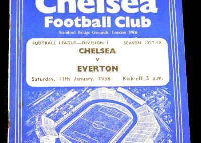 Chelsea v Everton 11.01.1958