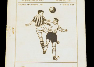Darlington FC v Exeter City 14.10.1961